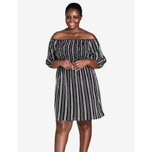 Stripe Play Dress by City Chic